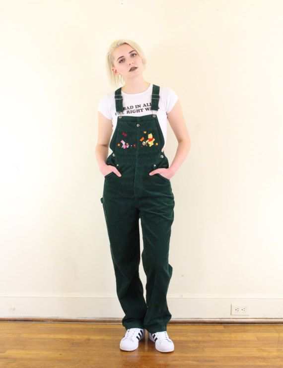 Great Winnie the Pooh overalls with embroidered bib with Pooh and Piglet  scene. Cute snap pocket on the chest. Back pockets. Metal buttons have  Disney logo ... dc6e305e1