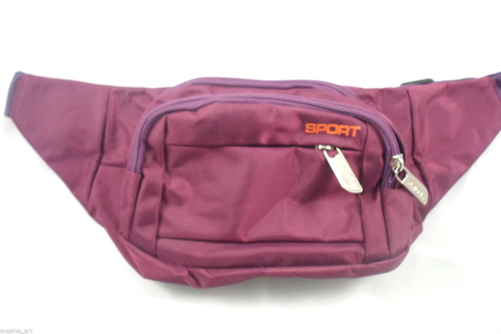 9.87$  Watch now - http://vierv.justgood.pw/vig/item.php?t=pl9df4s8307 - Waist Medium Round Spacious Expandable Fanny Bag Purple Comfy Unisex Canvas 9.87$