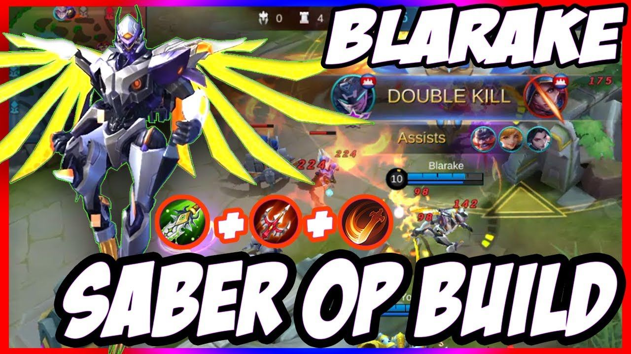 MLBB Can't Stop Saber with This OP Build Saber Rage