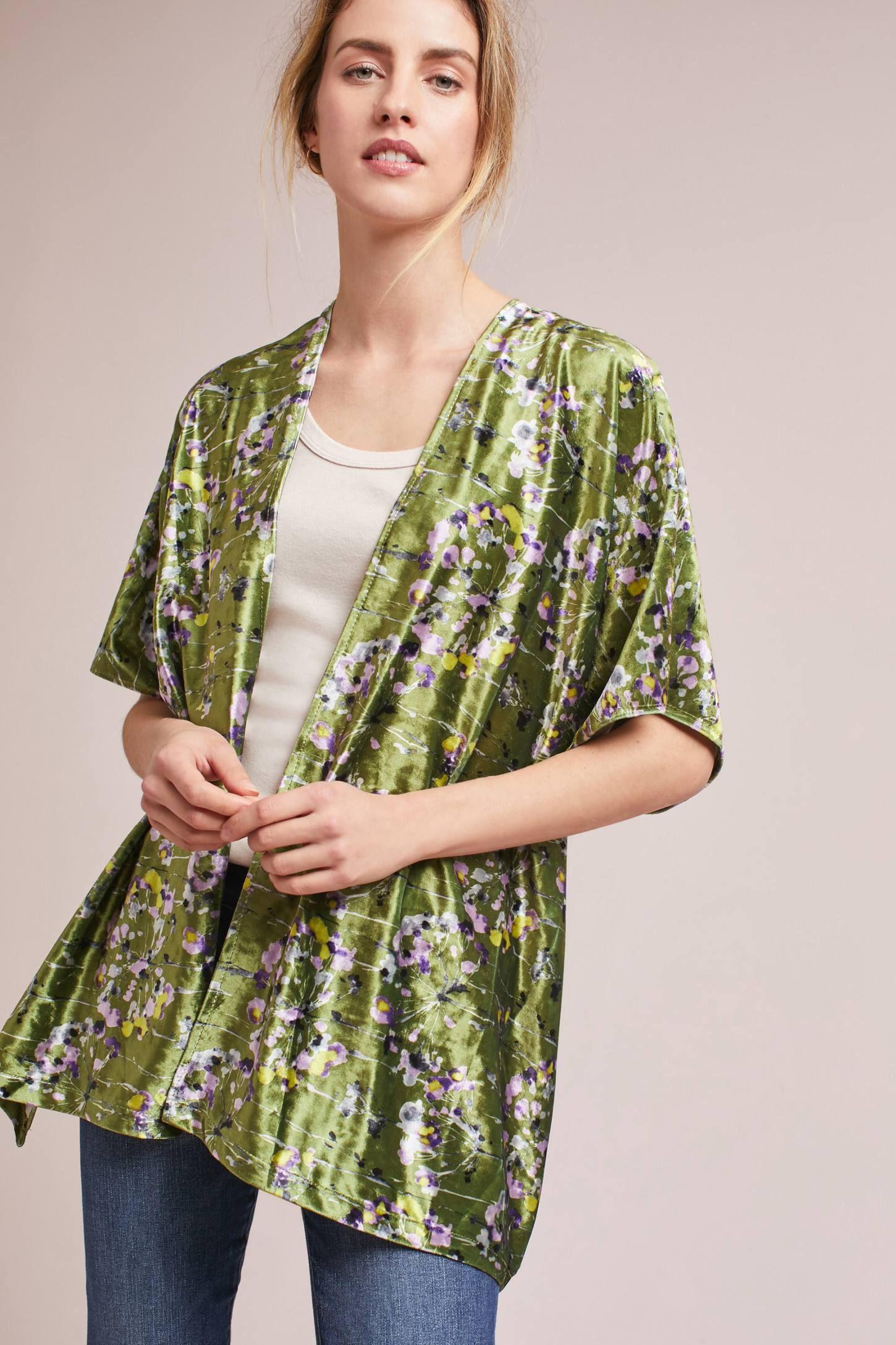 Shop the Callaway Floral Velvet Kimono and more