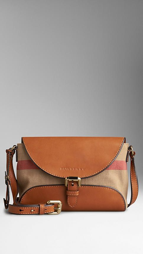 a76eb9cbd903 Burberry Small Canvas Check And Leather Crossbody Bag - ShopStyle Shoulder