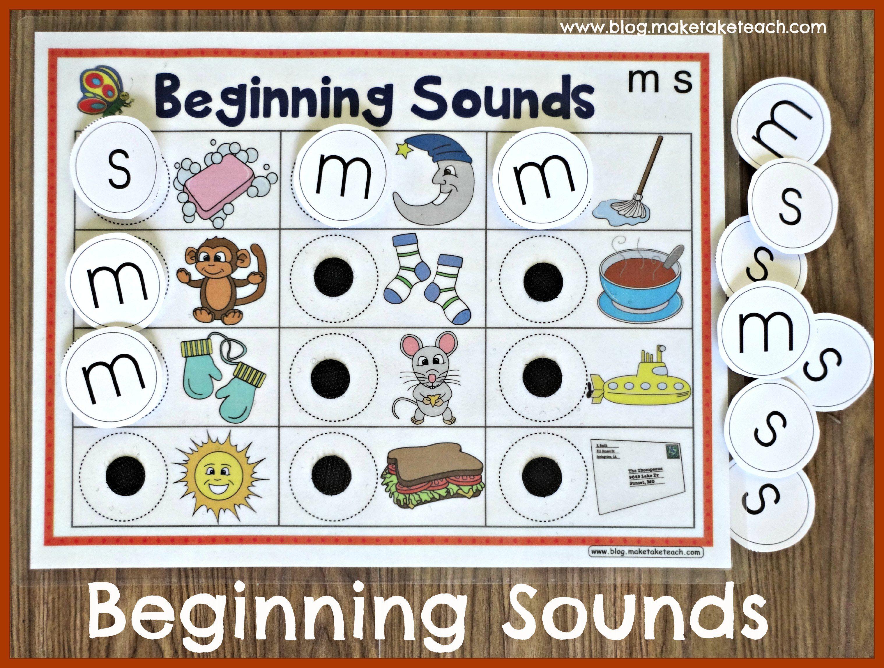 Fun With Beginning Sounds Make Take Teach Beginning Sounds Kindergarten Report Cards Phonics Kindergarten [ 2296 x 3036 Pixel ]