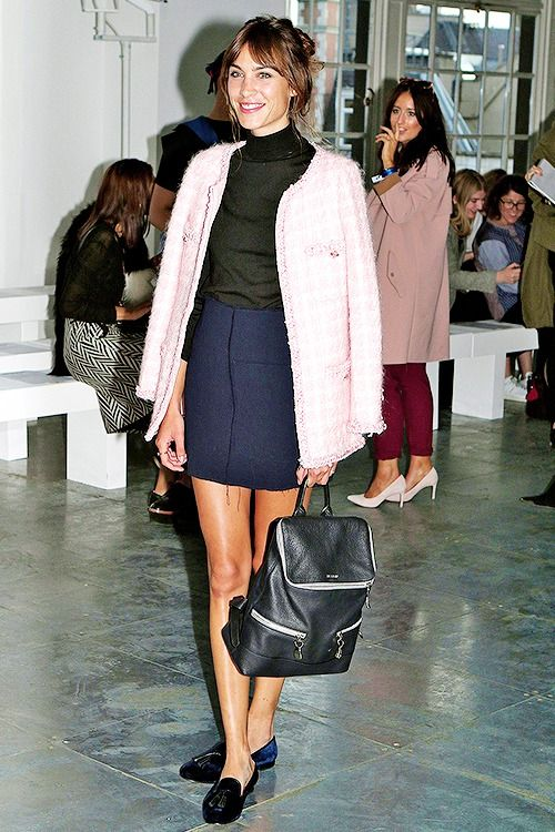 Alexa Chung attends the House of Holland show during London Fashion Week Spring Summer 2015 at on September 13, 2014 in London, England.