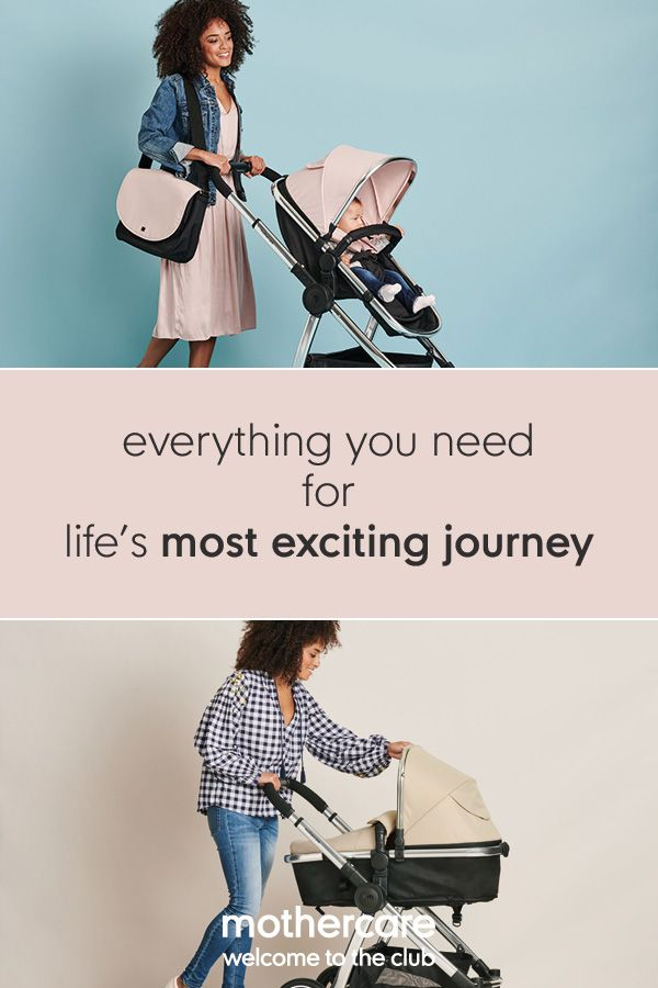 Mothercare 4-wheel journey chrome travel system - blush  8e8ea11c0d15
