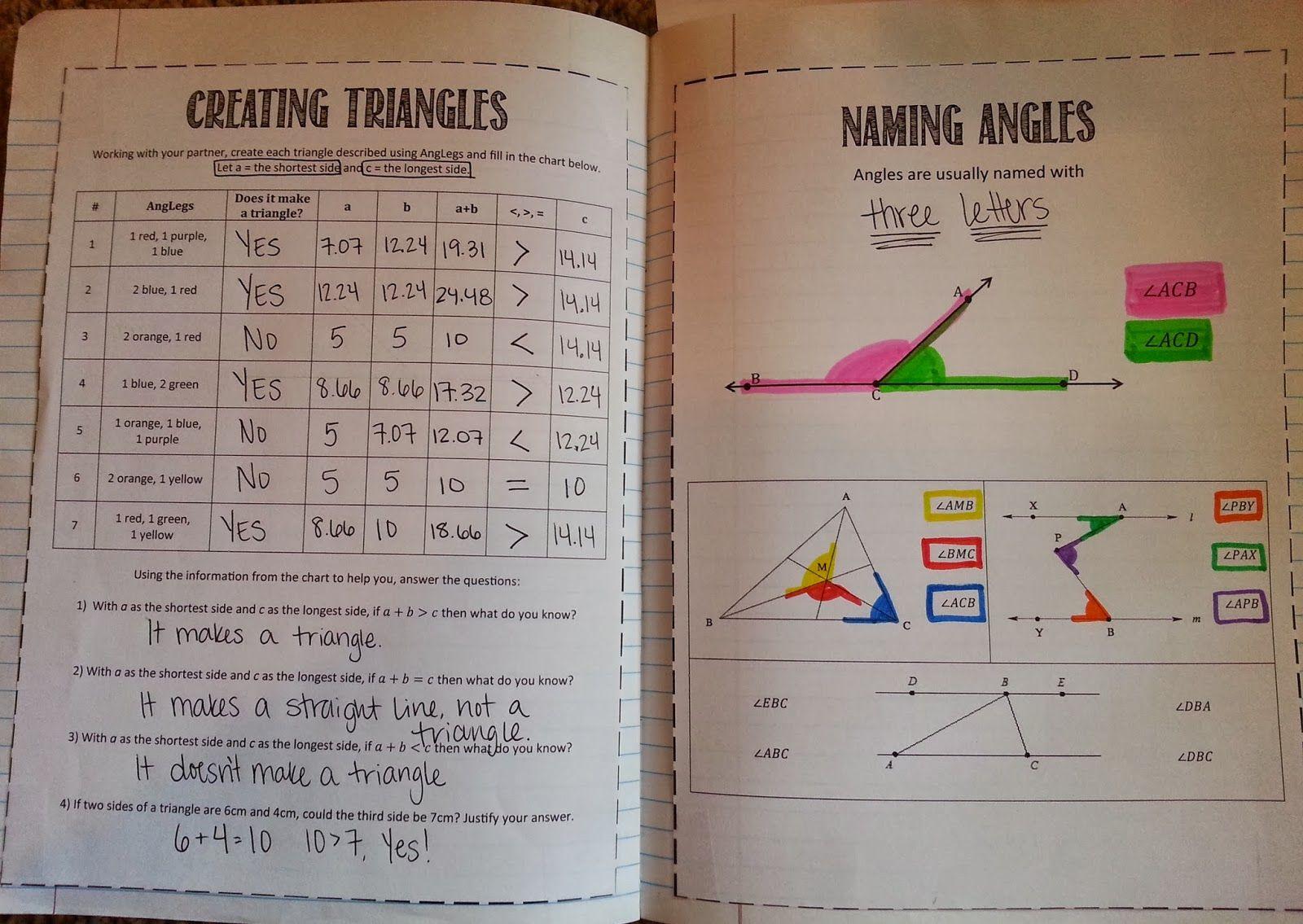 8th Grade Math Naming Angles Maths