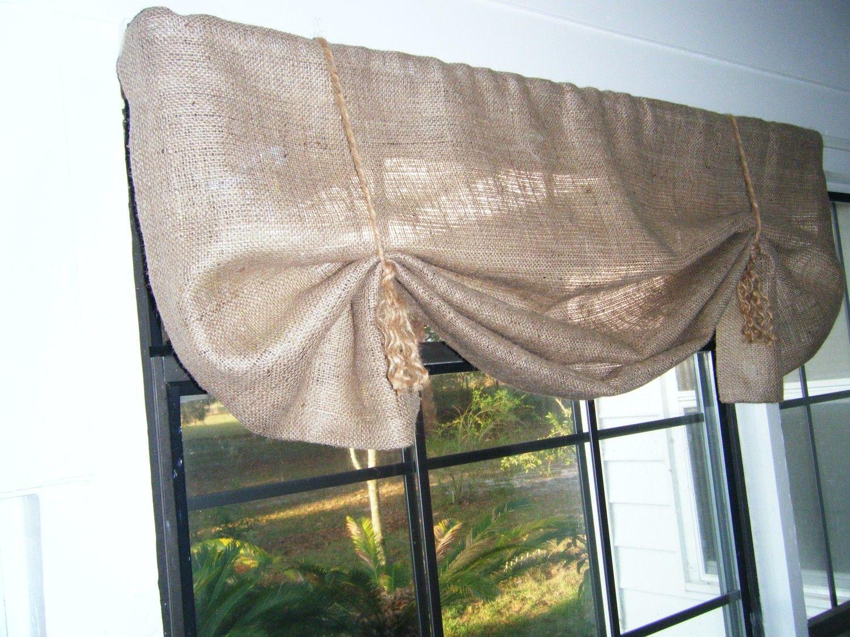 Burlap Window Valance