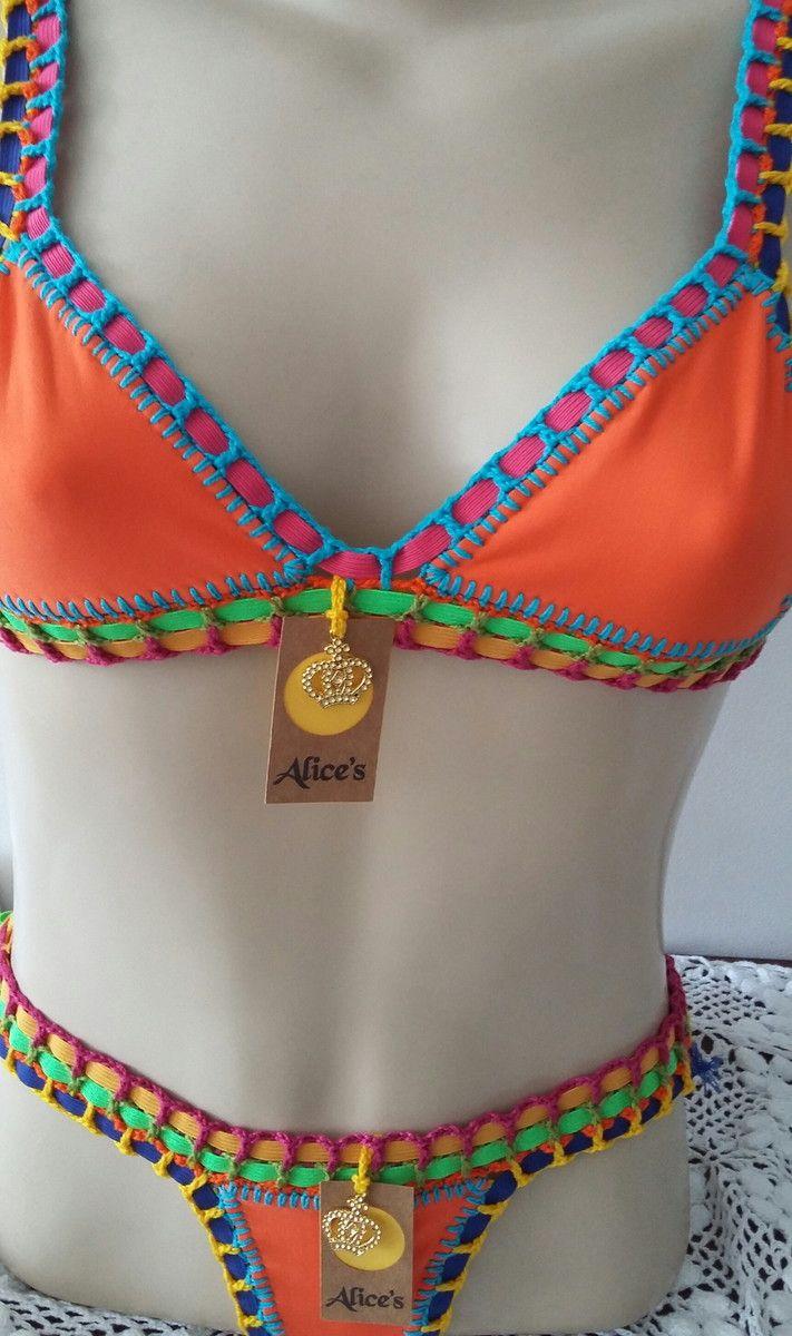 bd564ead7fe0 Alices Bikini   Crochet Bikini   Crochê, Biquini de crochê e Biquini ...
