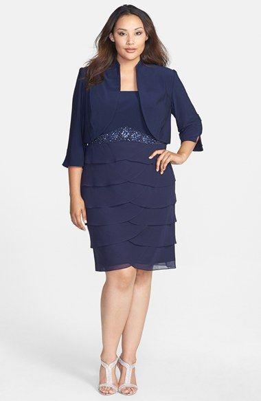 b7fbba69605f Jessica Howard Embellished Waist Artichoke Pleat Dress & Bolero (Plus Size)  available at #Nordstrom