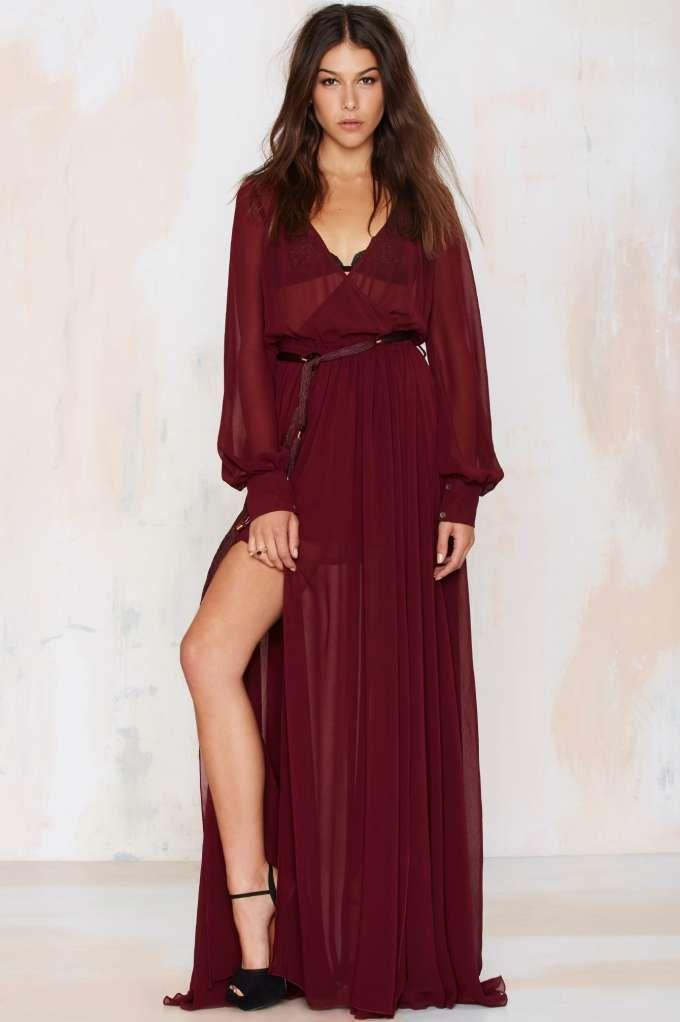 Go Your Own Way Chiffon Dress//