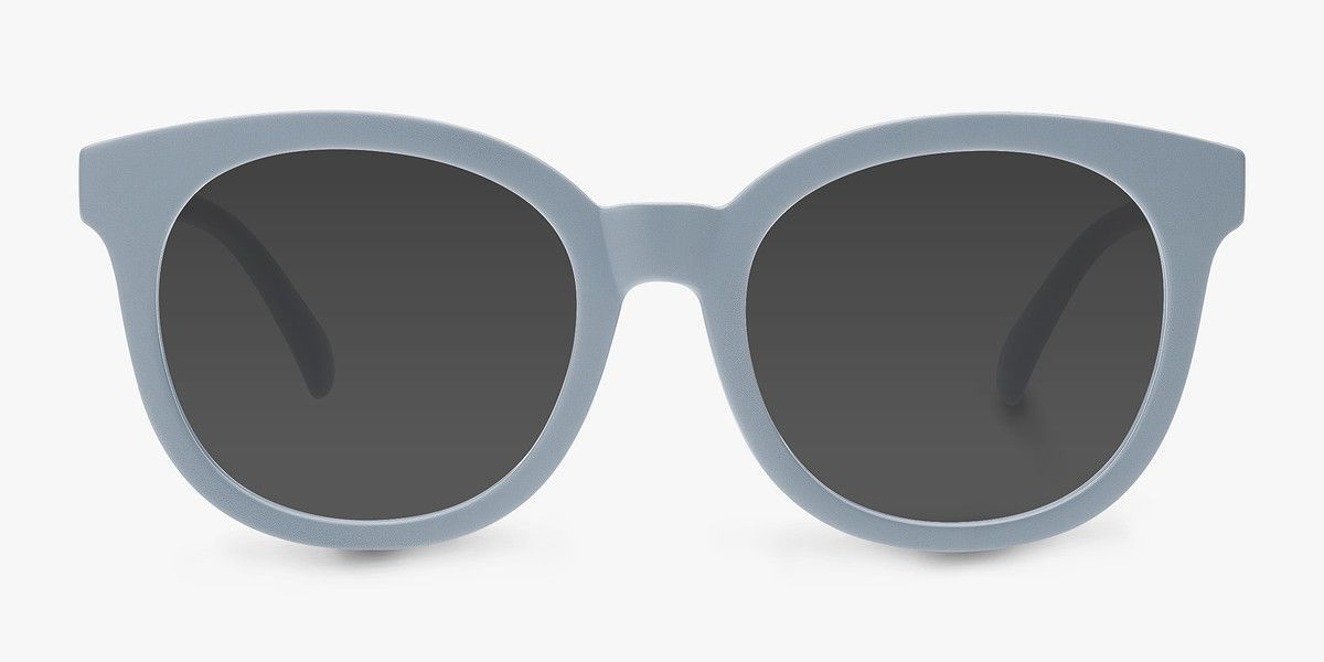 Elena Matte Blue Plastic Sunglasses