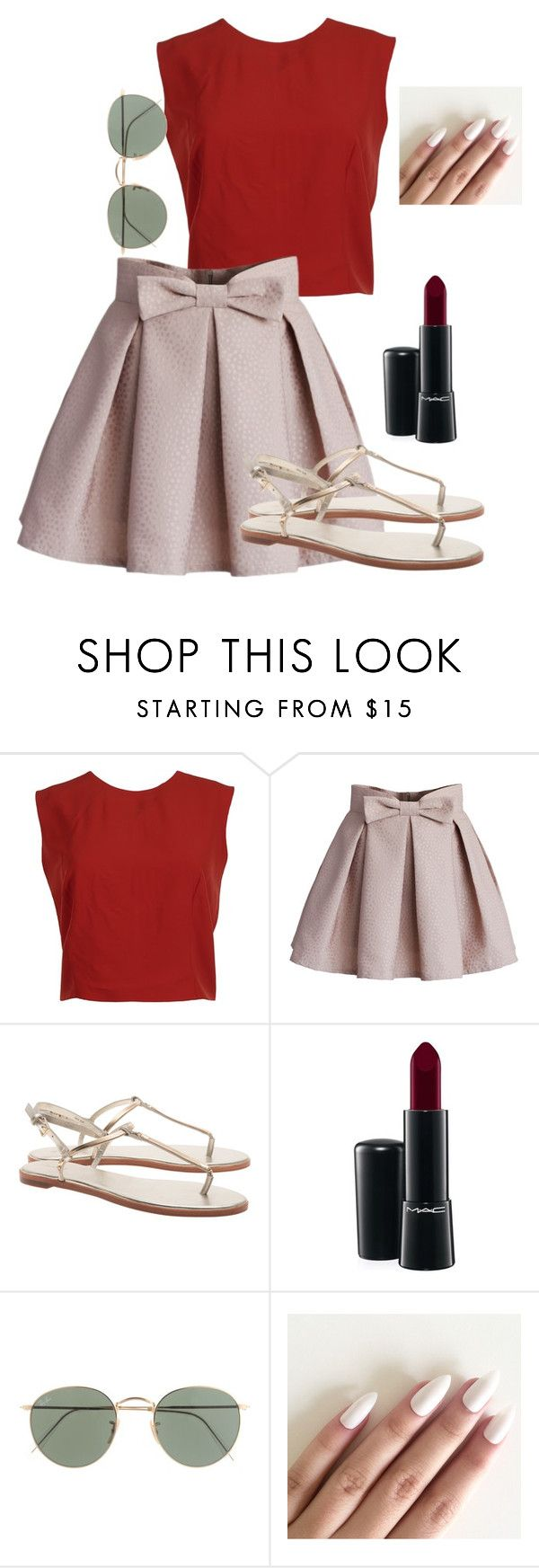 """Nice to meet you where you been"" by lovelywonderstruck13 ❤ liked on Polyvore featuring Alice + Olivia, Chicwish, MAC Cosmetics and J.Crew"