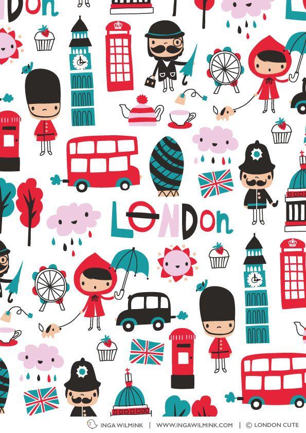 Inga Wilmink for London Cute - London fabric