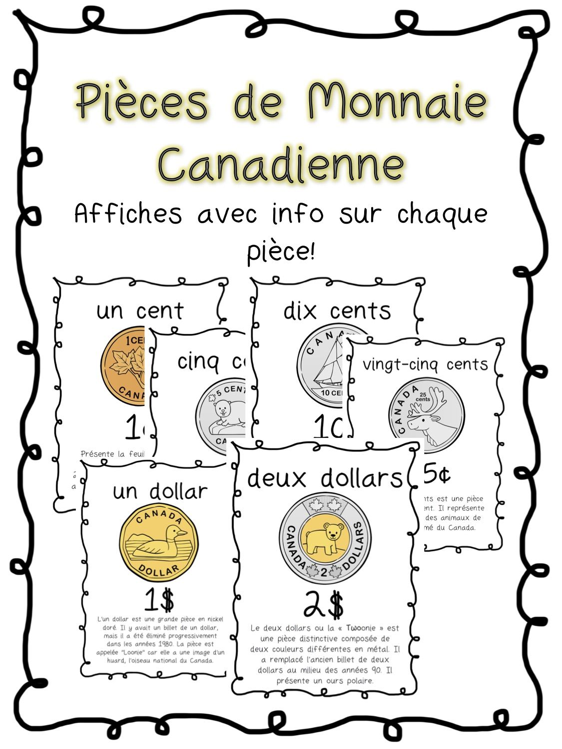 Pieces De Monnaie Cana Nne French Coin Posters