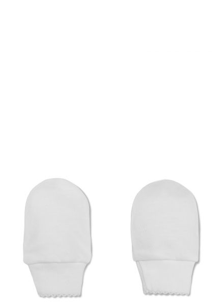 New babies have a tendency to scratch themselves- make sure your baby's delicate skin is protected with Pima cotton mitts from Petit Oh!