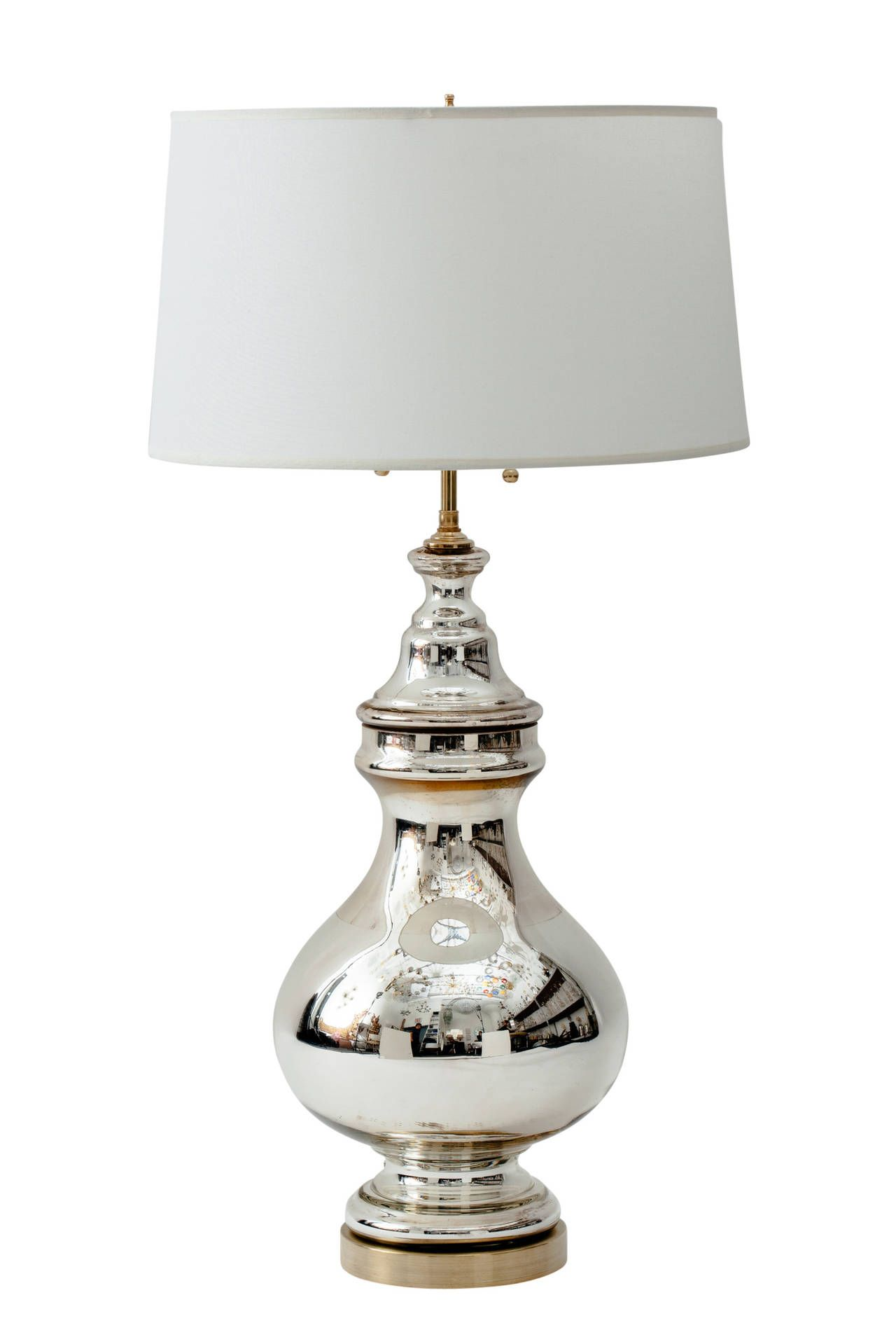Mercury Glass Apothecary Jar Lamp | From a unique collection of antique and modern table lamps at https://www.1stdibs.com/furniture/lighting/table-lamps/