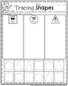 graphic about Preschool Cut and Paste Printable Worksheets known as Oct Preschool Worksheets math Preschool worksheets