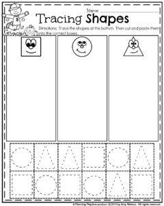 October Preschool Worksheets | Tracing shapes, Fall preschool and ...