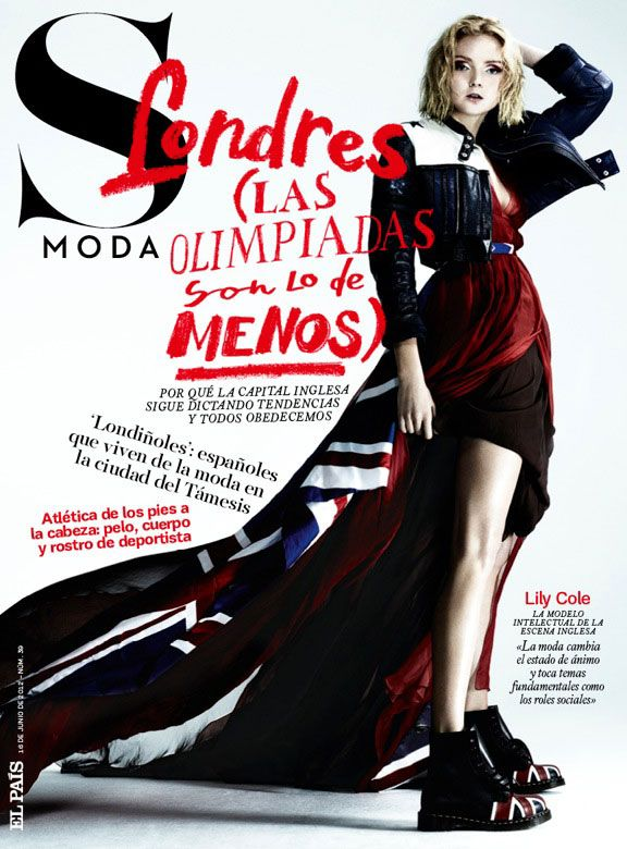 Lily Cole Has London Spirit for S Modas June 2012 Issue by Damon Baker