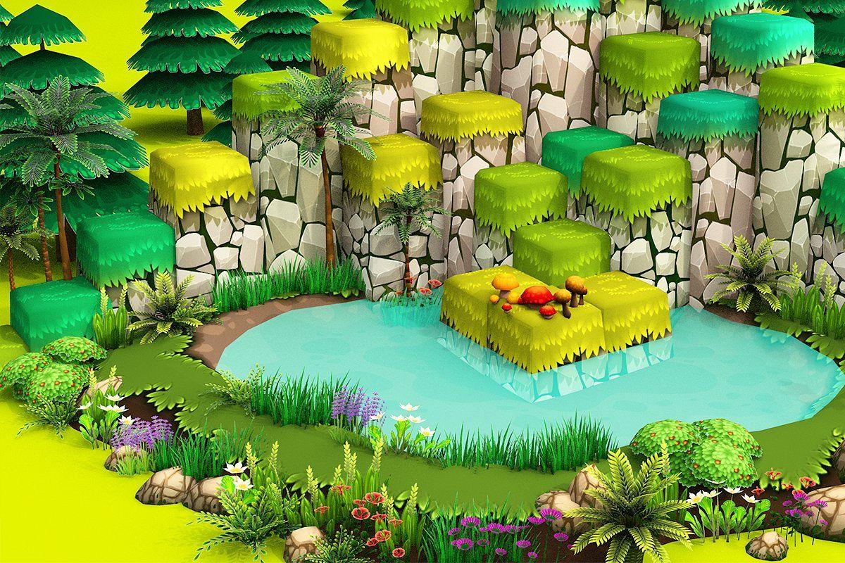 3d Cartoon Forest Forest Cartoon Concept Art Characters