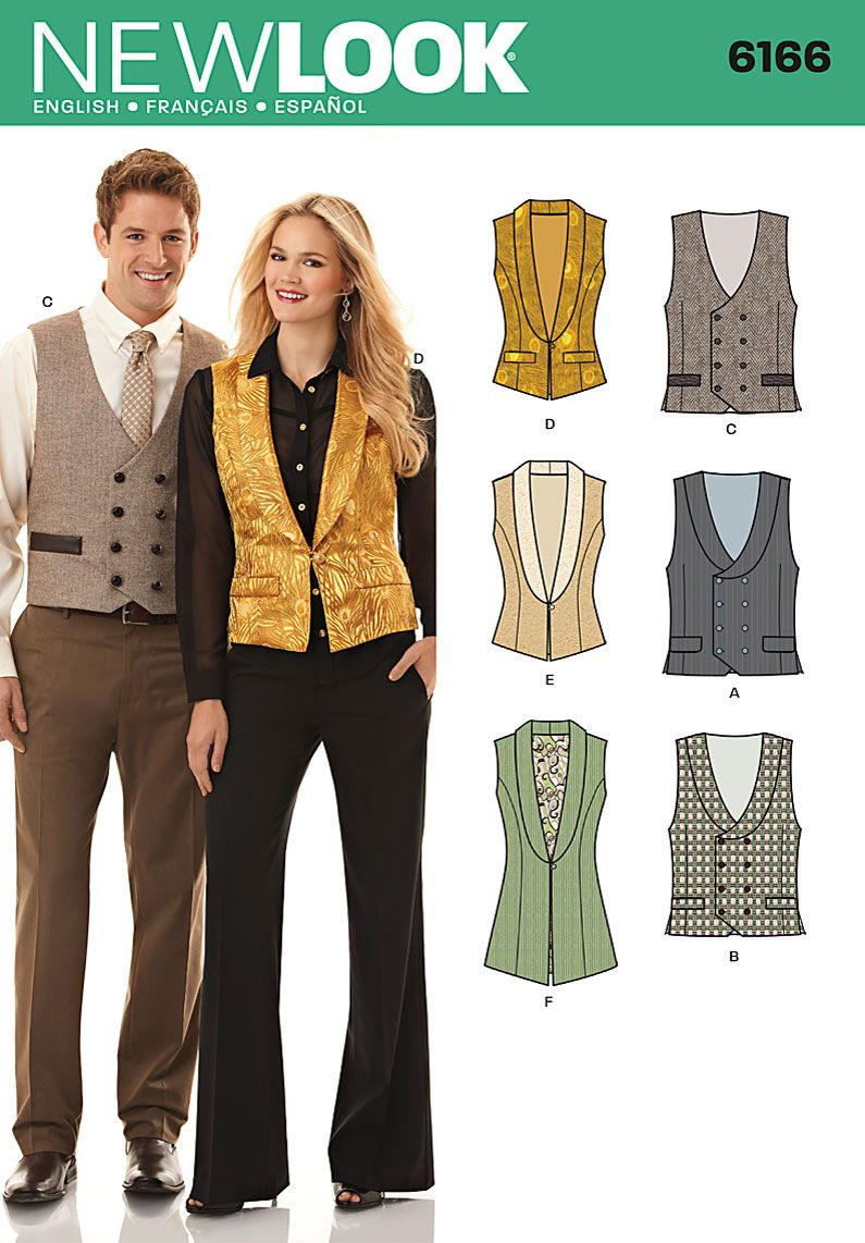 Simplicity Creative Group - Misses\' and Men\'s Vest | sewing patterns ...