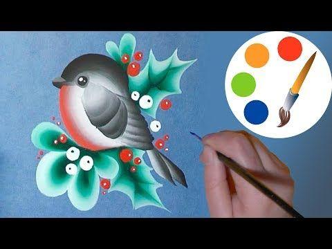 Easy way to paint a simple bird, One Stroke for beginners, irishkalia