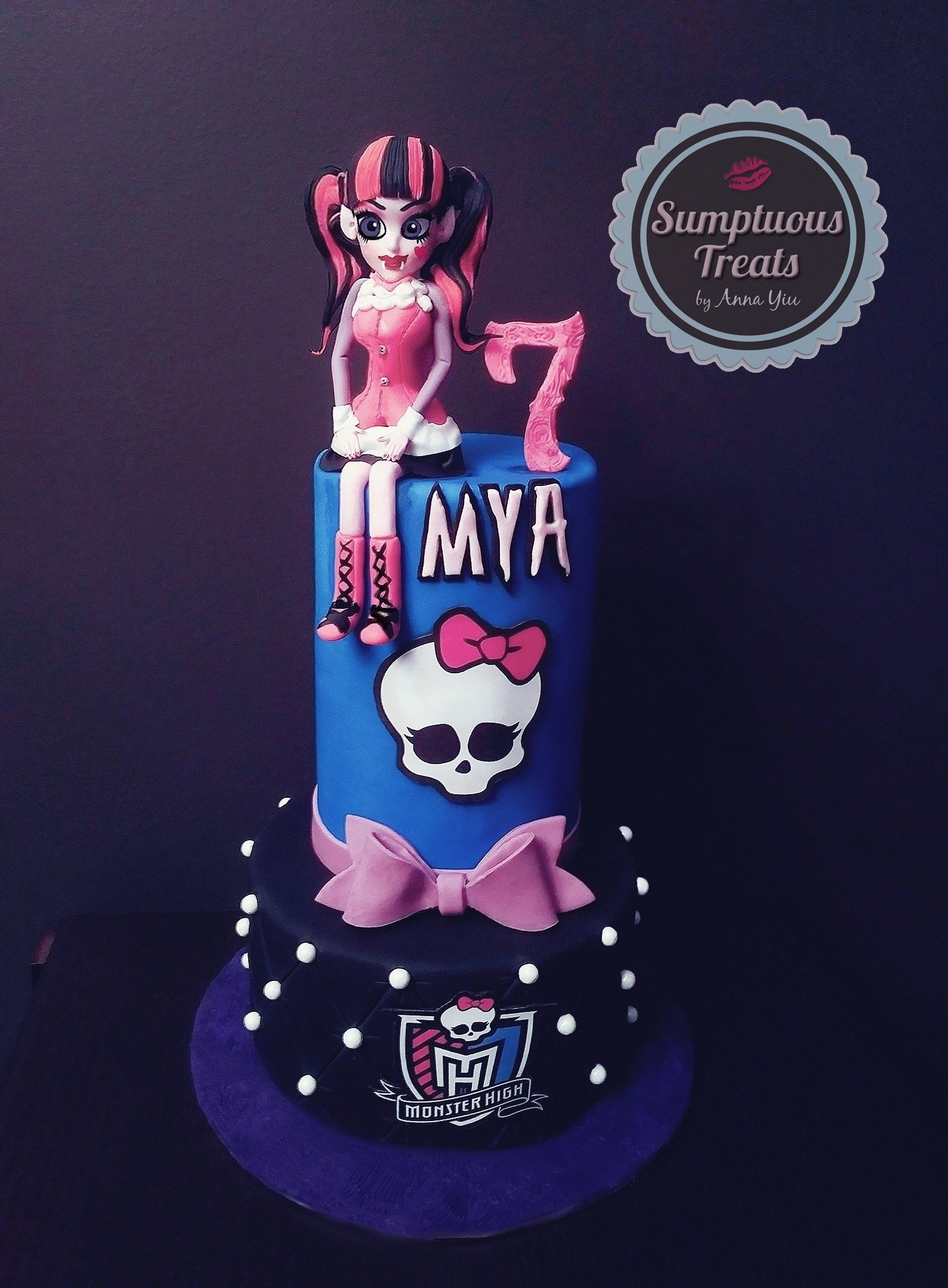 Monster High Draculaura Birthday Cake CustomMadeToOrder Cakes