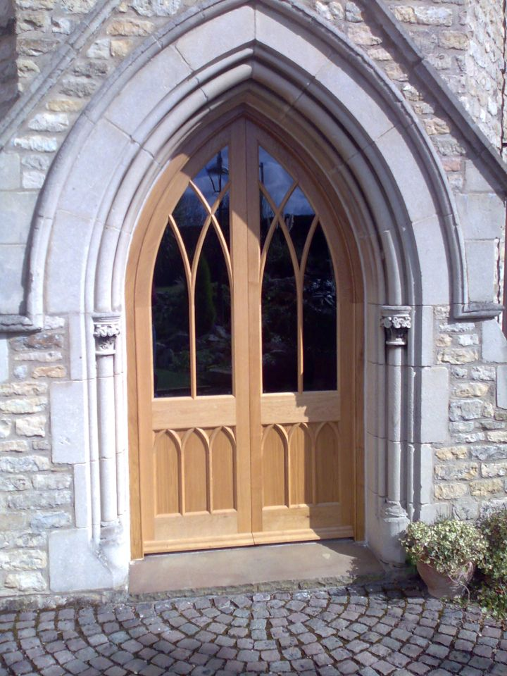 beautifully made gothic style church arch double doors & beautifully made gothic style church arch double doors | Stained ... Pezcame.Com
