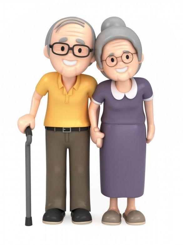 Vovo E Vovo Casal De Velhinhos Dia Dos Avos Cuidador De Idosos