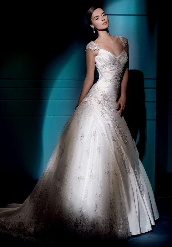 Check out this #weddingdress: 4275 by Demetrios via iPhone #TheKnotLB from #TheKnot
