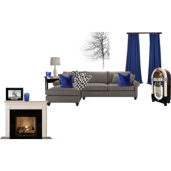 Royal Blue Grey And Black Living Room Blue Living Room Blue
