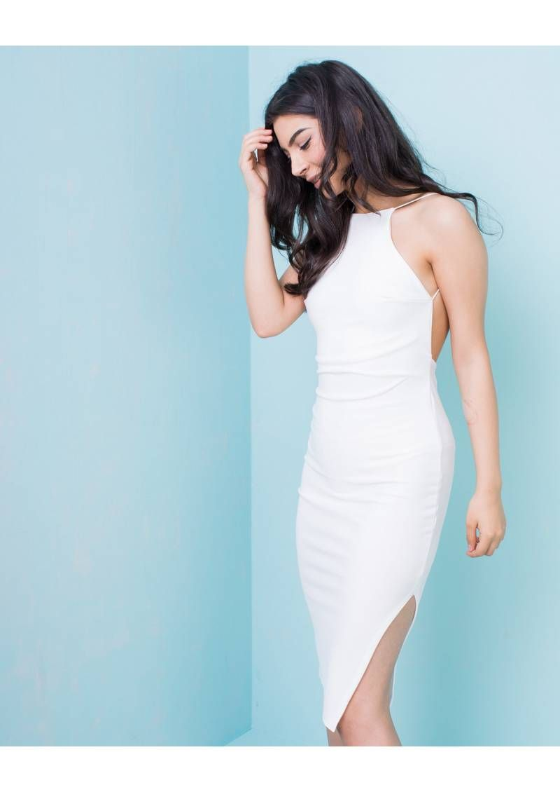 Rozi Cream Halter Neck Midi Dress | Wardrobe | Pinterest | Halter ...