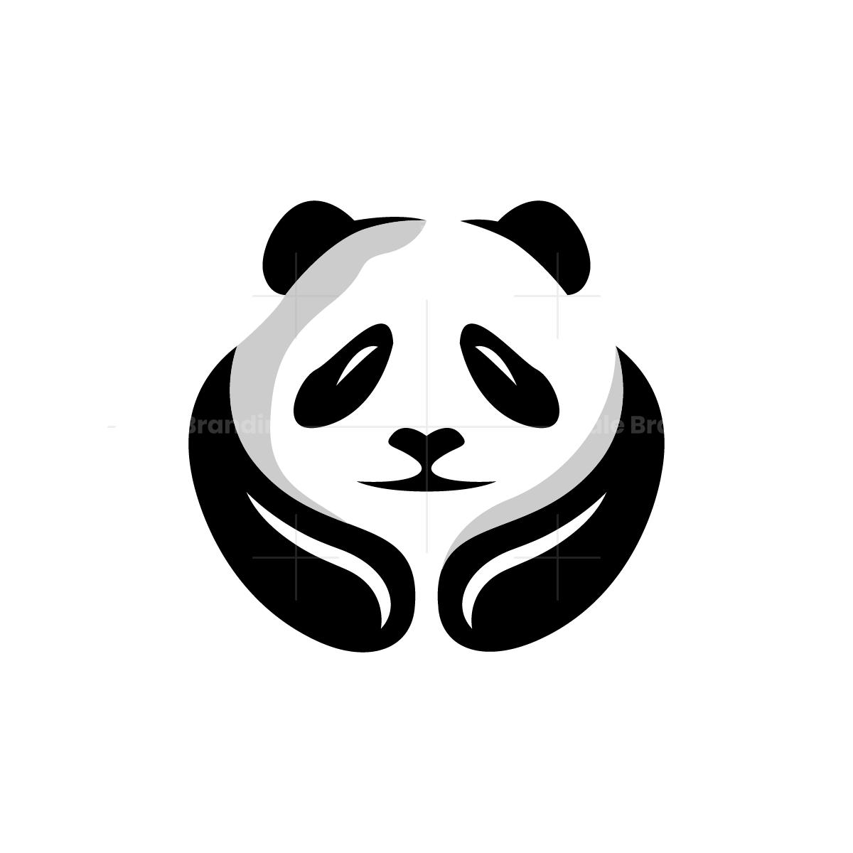 Hugging Panda Logo Panda Head Panda Logo Design