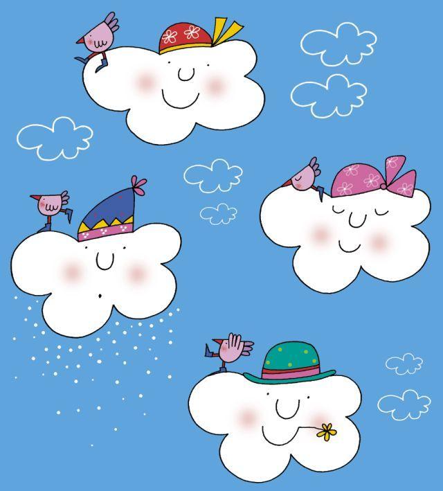 La nuvola olga innaffia i girasoli ilustracions for Nuvola da colorare