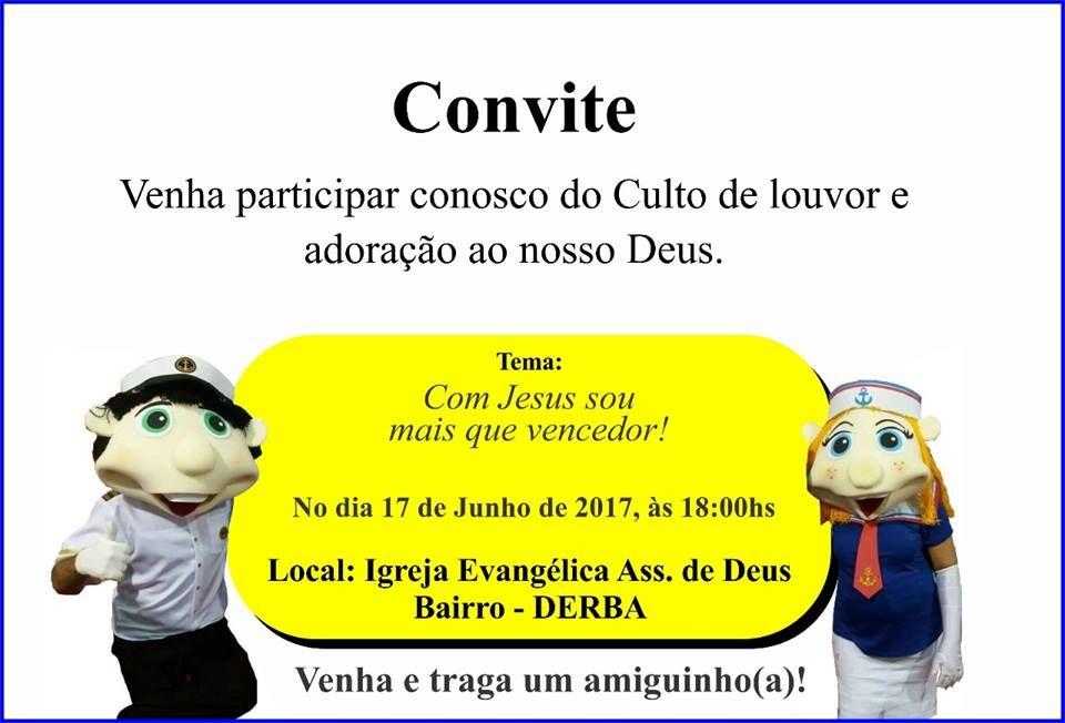 Famosos Convites para Eventos Evangelicos – Igrejas – Modelos de Convite  KX16