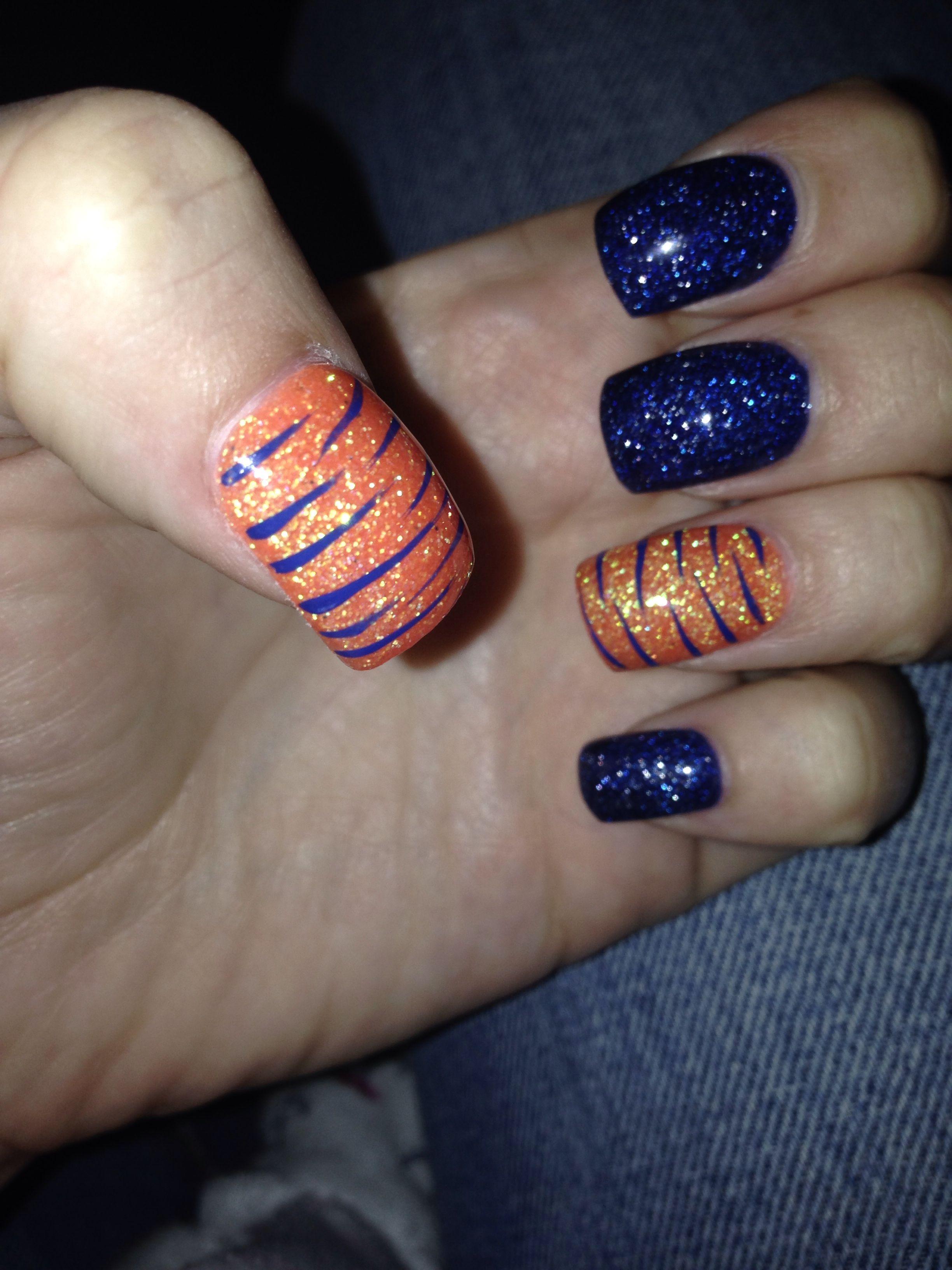 Broncos nails | Broncos Baby! | Pinterest | Broncos nails, Denver ...