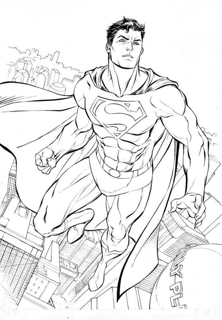 Pin By Krystiyanna Gossett On Dibujos Superman Coloring Pages Superman Drawing Superhero Coloring