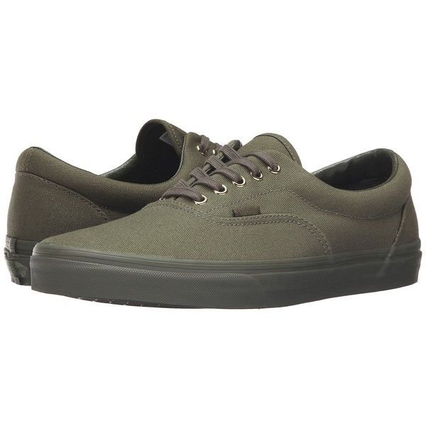 8865220b5d Vans Era ((Gold Mono) Ivy Green) Skate Shoes ( 50) ❤ liked on Polyvore  featuring shoes