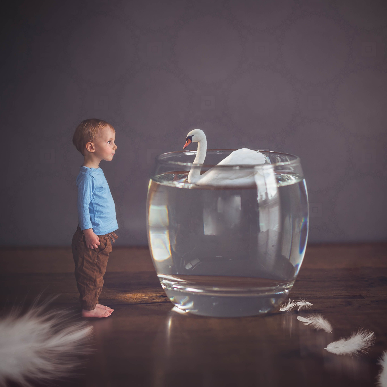 Children photography ideas. Composite photography. Photoshop editing. Nostalgic feel. Miniature portrait. Inspiring ideas photography