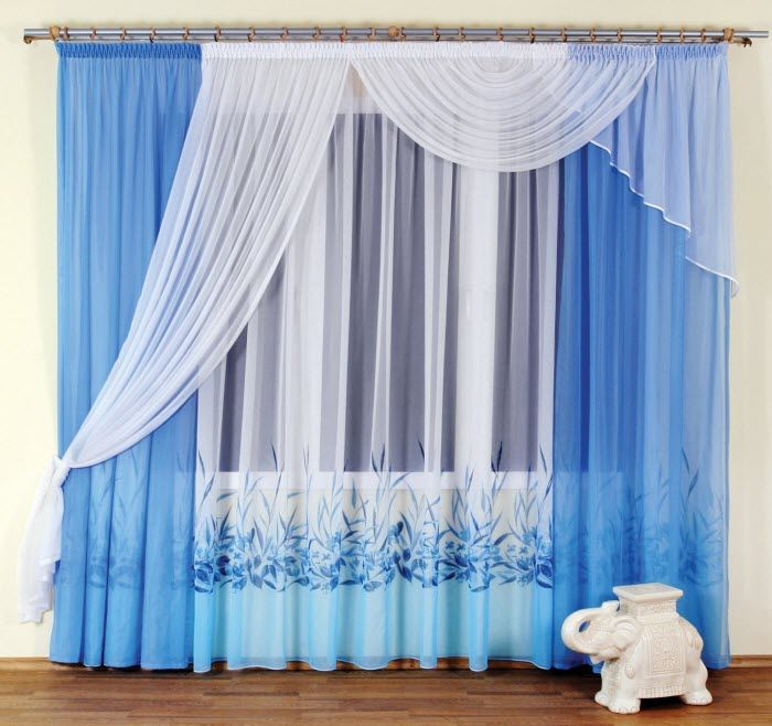 Beautiful Curtain Design For Stylish Interior Design: Beautiful White Blue  Curtain Designs Small Elephant Wooden