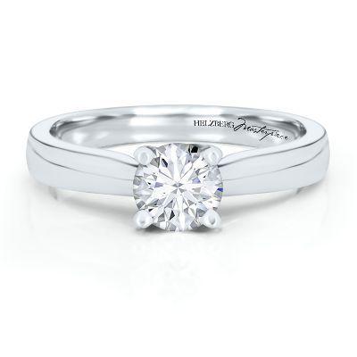 helzberg diamond masterpiece 34 ct degas diamond solitaire engagement ring in - Helzberg Wedding Rings