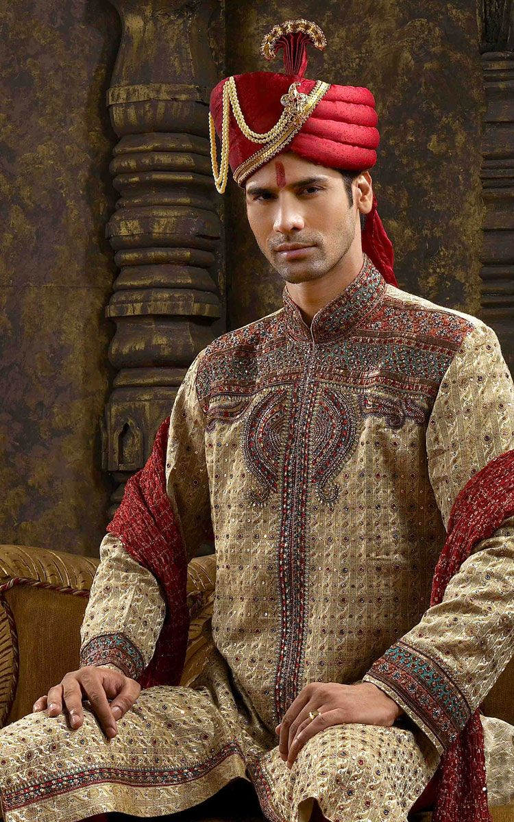 Hindu Men Shopping Masala Indian Sherwani For Men