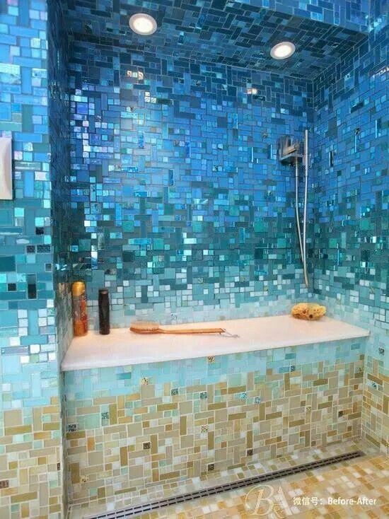 Mosics Bathrooms Beach Theme Bathroom Tropical Bathroom Shower Tile Designs