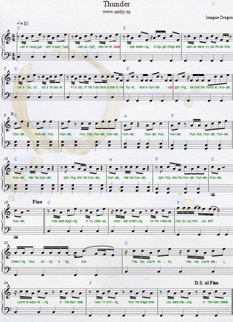 Thunder Road Piano Sheet Music Heartpulsar