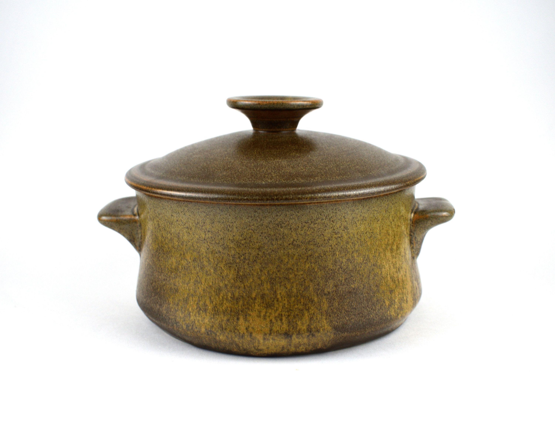 Temuka Pottery Riverstone Casserole Dish Vintage Eathernware