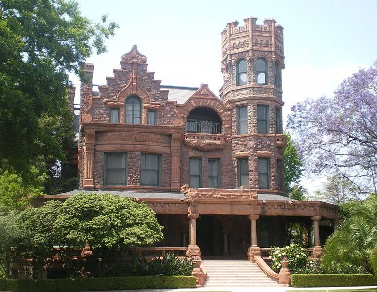 Dave Etchie Mansions Of The Gilded Age Stimson Mansion In Los Angeles The 1891 Richardson Romanesque That N Castle House Plans Castle House Design Castle House