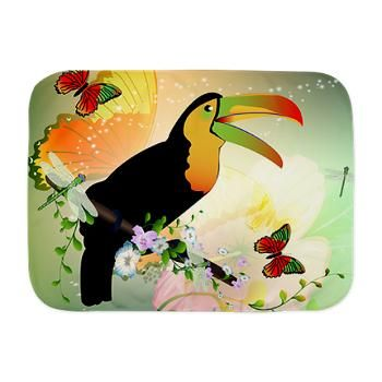 #Toucan with #flowers #Baby #Blanket
