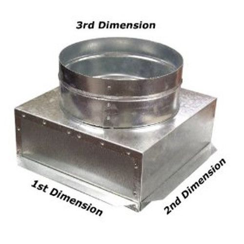 6x6x6 Square To Round Ceiling Register Can Box C Box Vent Registers Hvac Hvac Duct