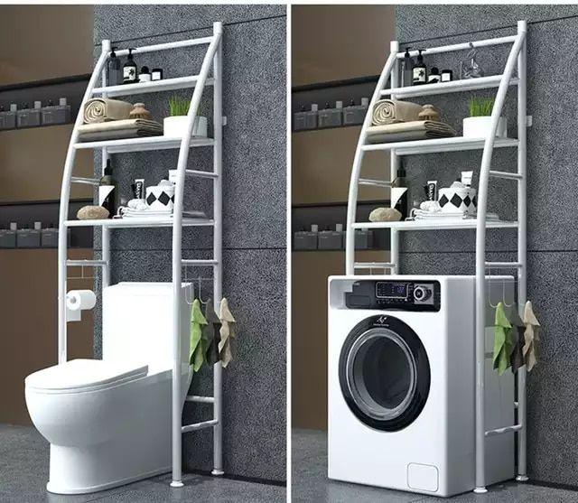 Organizador para almacenamiento de inodoro para ahorrar espacio soporte para toallas sobre el estante de inodoro armario de estanter/ía 3 estantes de hierro para el ba/ño