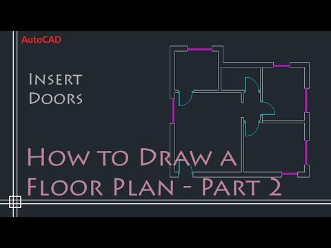 AutoCAD 2D Basics - Tutorial putting in Windows and doors to draw a