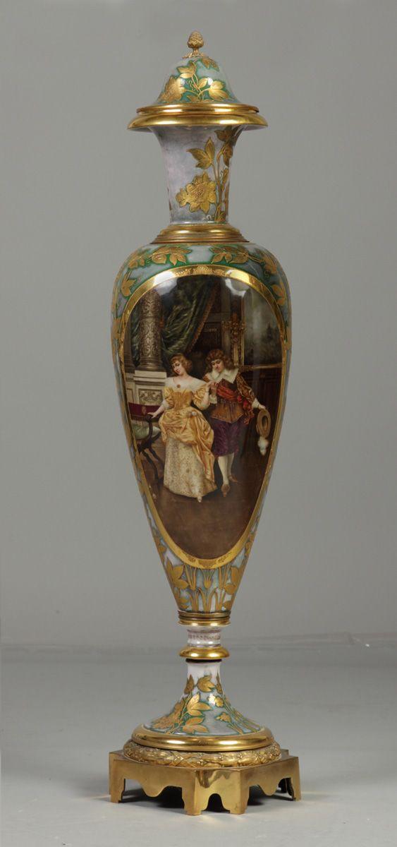 Fine Monumental Royal Vienna Porcelain Vase Cottone Auctions